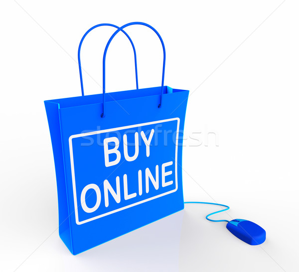Buy Online Bag Shows Internet Availability for Buying and Sales Stock photo © stuartmiles