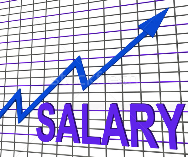 Salary Chart Graph Shows Increase Earn Cash Wealth Revenue Stock photo © stuartmiles