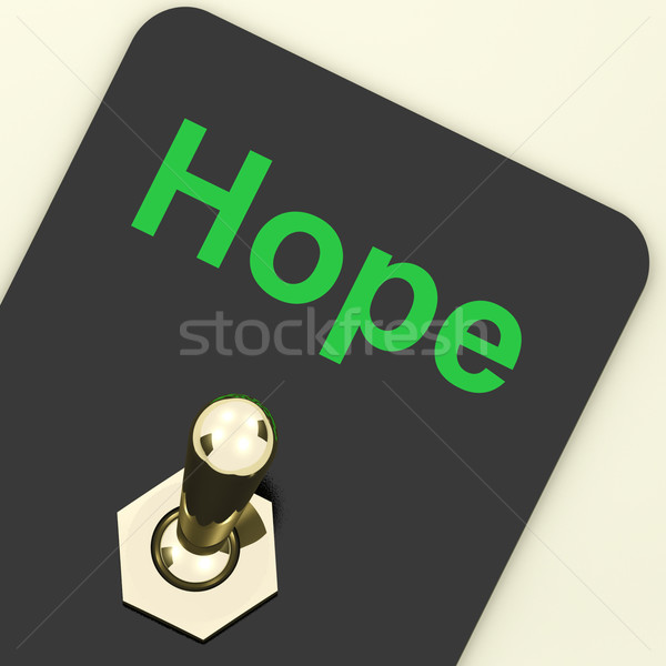 Hope Switch Shows Wishing Hoping Wanting Stock photo © stuartmiles