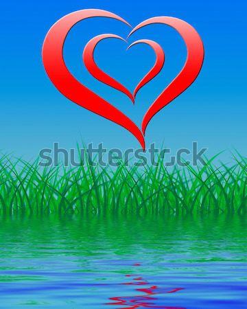 Serca romans miłości pasja Zdjęcia stock © stuartmiles