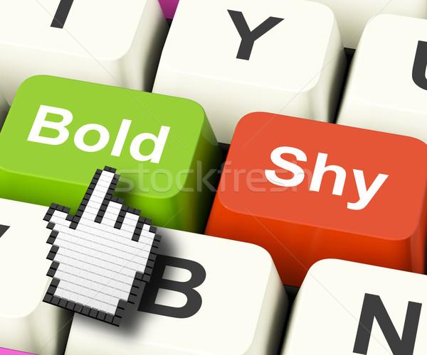 Komputera klucze pokaż nieustraszony Zdjęcia stock © stuartmiles