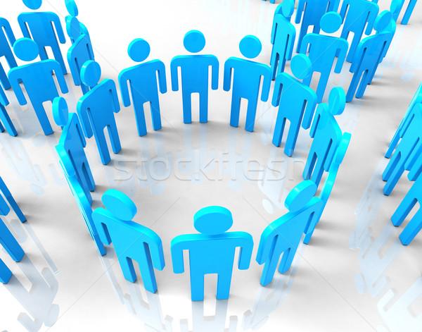 Hálózat csoportok globális kommunikáció beszélget jelentés együtt Stock fotó © stuartmiles