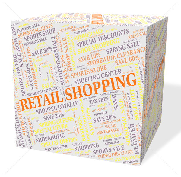 Retail Shopping Indicates Promotion Consumer And Consumerism Stock photo © stuartmiles