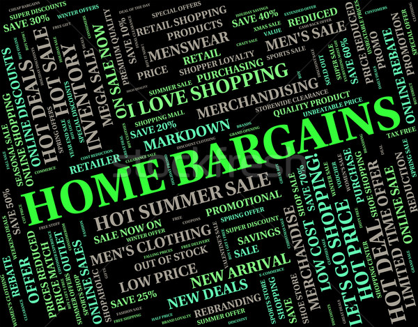 Home Bargains Represents Residence Housing And Sale Stock photo © stuartmiles