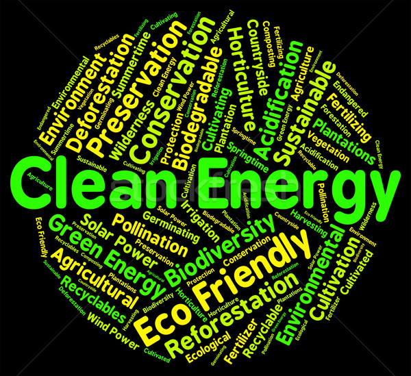 Eco Friendly Means Clean Energy And Ecology Stock photo © stuartmiles
