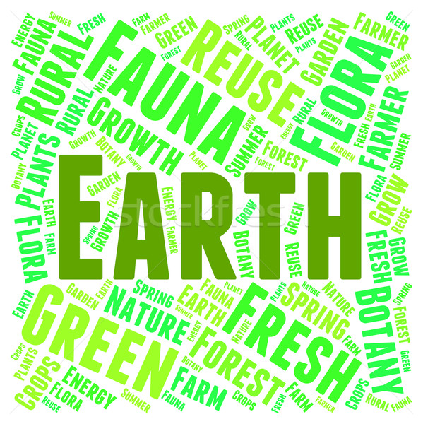 Earth Word Cloud Shows Go Green And Eco-Friendly Stock photo © stuartmiles