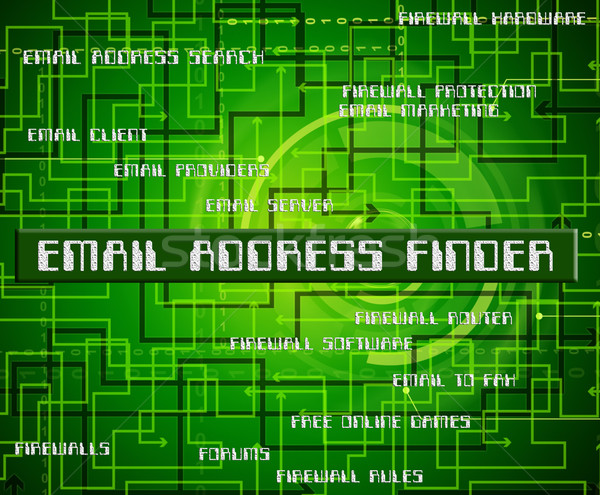 Email Address Finder Represents Send Message And Addresses Stock photo © stuartmiles