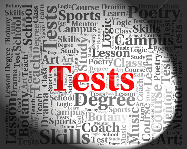 Tests Word Shows Examinations Examination And Questions Stock photo © stuartmiles