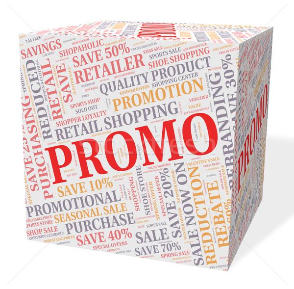 рекламный куб экономия дешево продажи Сток-фото © stuartmiles