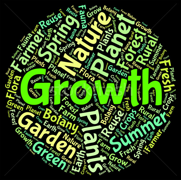 Growth Word Indicates Farming Cultivate And Cultivates Stock photo © stuartmiles
