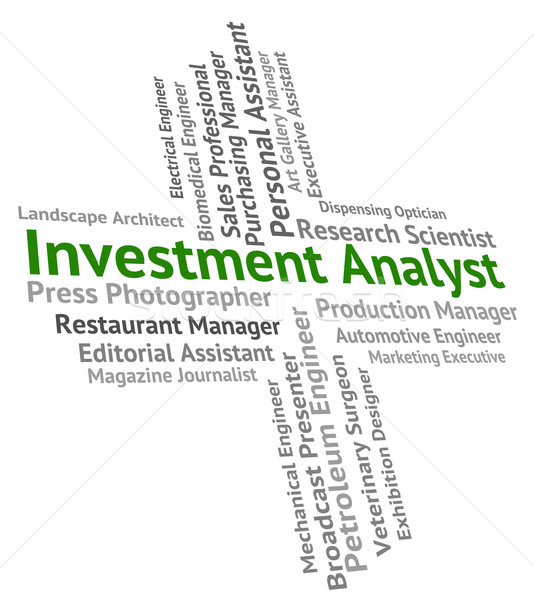 Investment Analyst Represents Analytics Hiring And Text Stock photo © stuartmiles