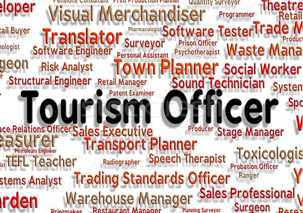 Turizmus tiszt vakációzás állások ünnep karrier Stock fotó © stuartmiles