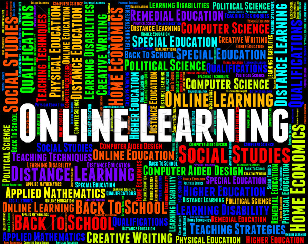 Online leren world wide web college tonen website Stockfoto © stuartmiles