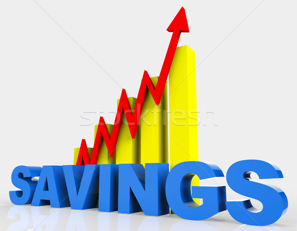 Increase Savings Means Progress Report And Advance Stock photo © stuartmiles