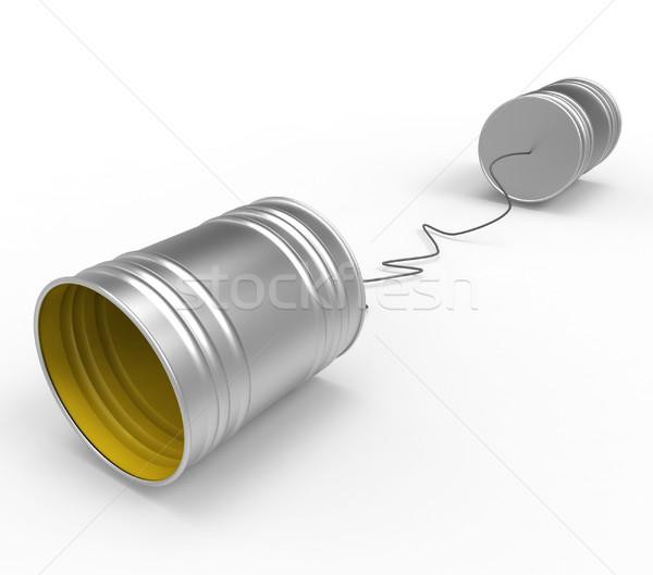 Teléfono conversación conferencia chismes hablar chat Foto stock © stuartmiles