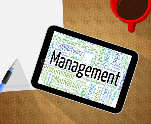Management Word Indicates Text Manager And Business Stock photo © stuartmiles