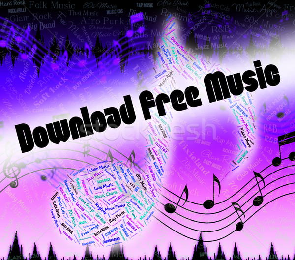 Stock photo: Download Free Music Shows No Charge And Application