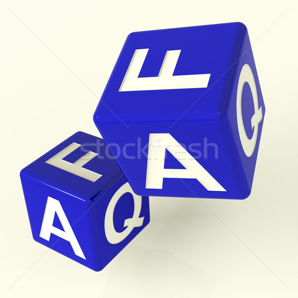 Faq Dice As Symbol For Information Or Answers Stock photo © stuartmiles