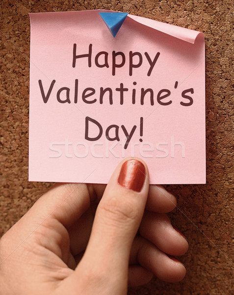 Feliz día de san valentín nota amor afecto Foto stock © stuartmiles