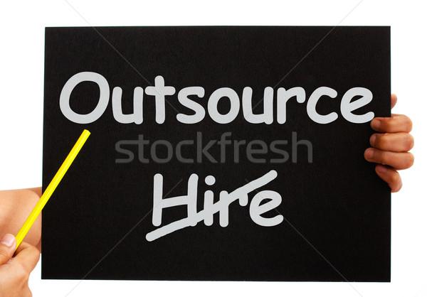 Nota tonen freelance werknemer baan boord Stockfoto © stuartmiles
