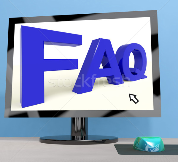 Faq On Computer Screen Shows Online Help Stock photo © stuartmiles