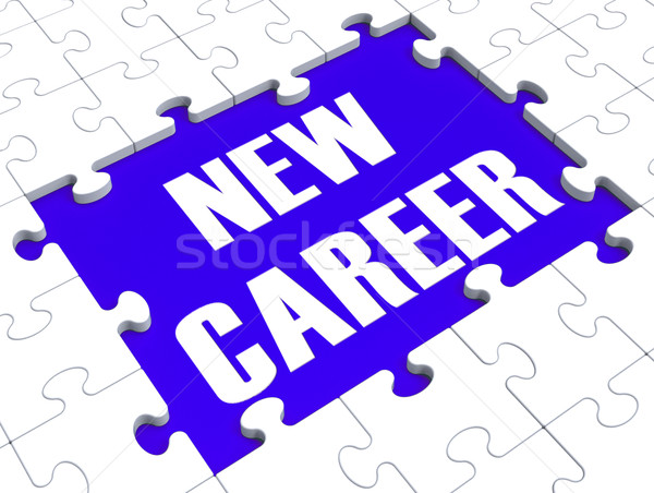 Stock photo: New Career Puzzle Showing Future Employment