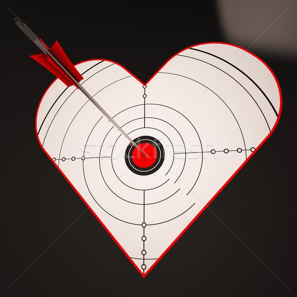 Stock fotó: Szív · cél · sikeres · nyertes · szeretet · mutat