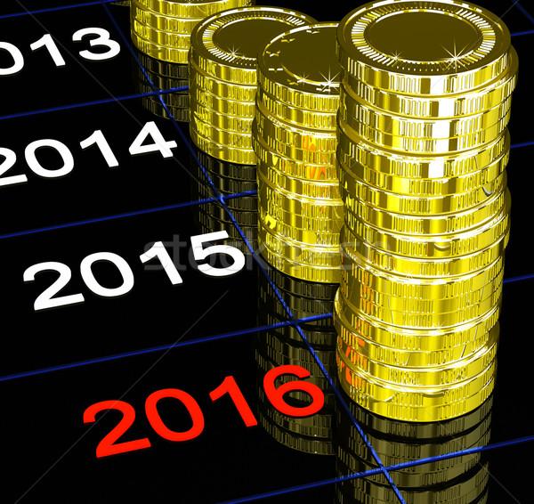 Monedas 2016 futuro economía pronóstico Foto stock © stuartmiles