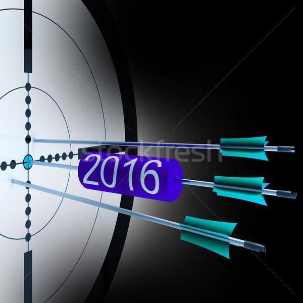 2016 Target Shows Successful Future Growth Stock photo © stuartmiles