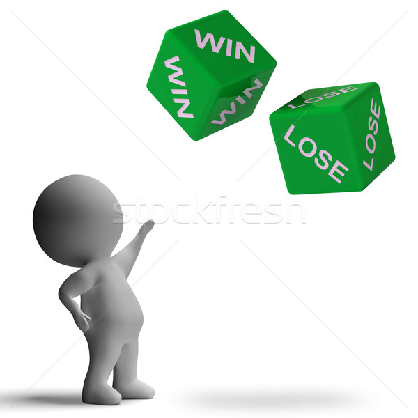 Win Lose Dice Showing Gamble Stock photo © stuartmiles
