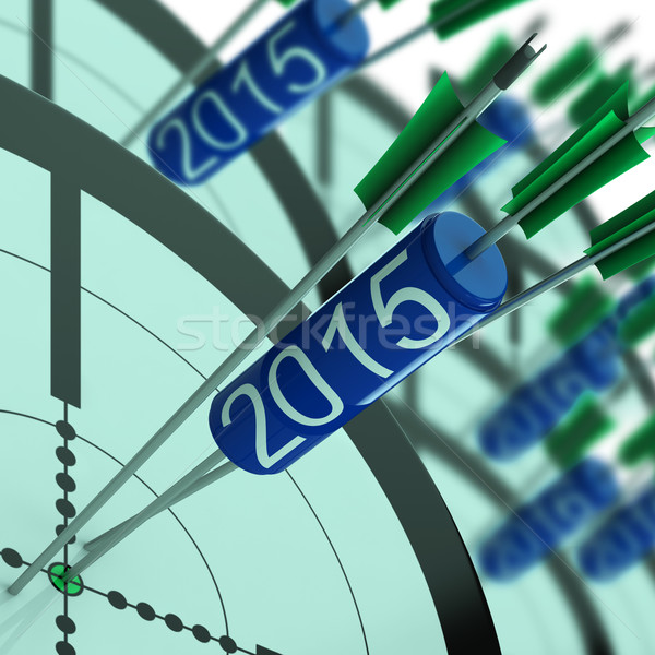 2015 Target Shows Year Projected Profit Growth Stock photo © stuartmiles
