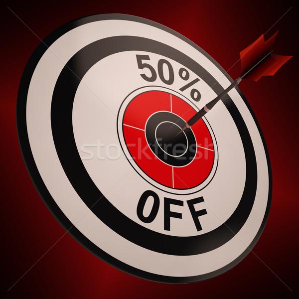 50 százalék el alkalmi vétel hirdetés mutat Stock fotó © stuartmiles