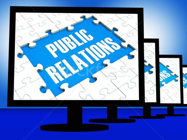Public Relations On Monitors Shows News Stock photo © stuartmiles