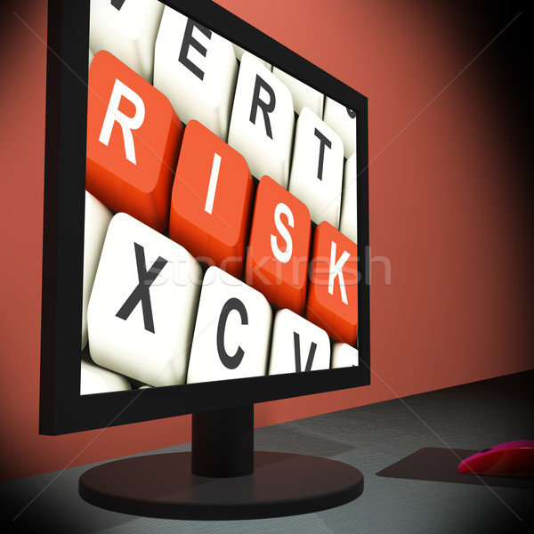 Risk On Monitor Shows Unstable Situation Stock photo © stuartmiles