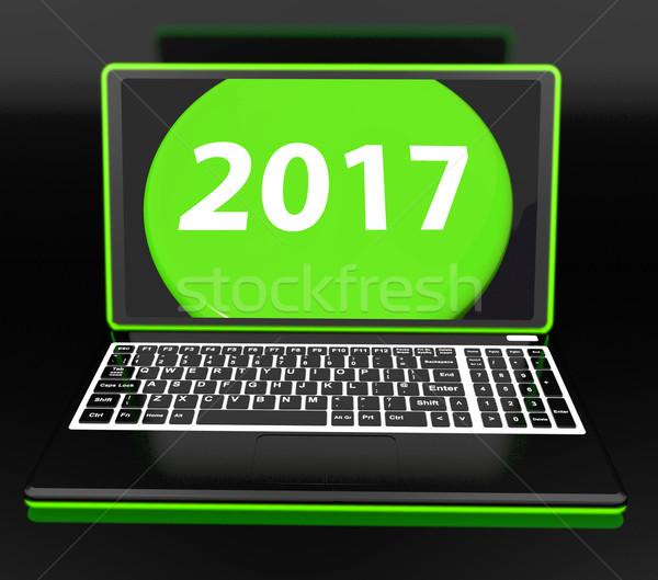 Dois mil dezessete laptop ano novo Foto stock © stuartmiles