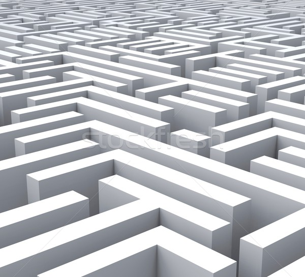 Maze Shows Problem Or Complexity Stock photo © stuartmiles
