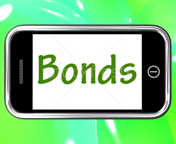 Bonds Smartphone Means Online Business Connections And Networkin Stock photo © stuartmiles