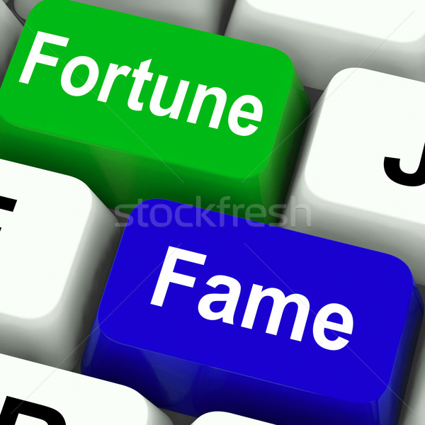 Fortune Fame Keys Show Wealth Or Publicity Stock photo © stuartmiles