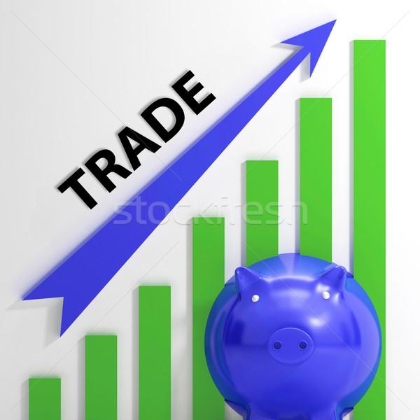 Ticaret grafik büyüme piyasalar değer Stok fotoğraf © stuartmiles