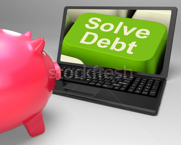 Solve Debt Key Means Solutions To Money Owing Stock photo © stuartmiles
