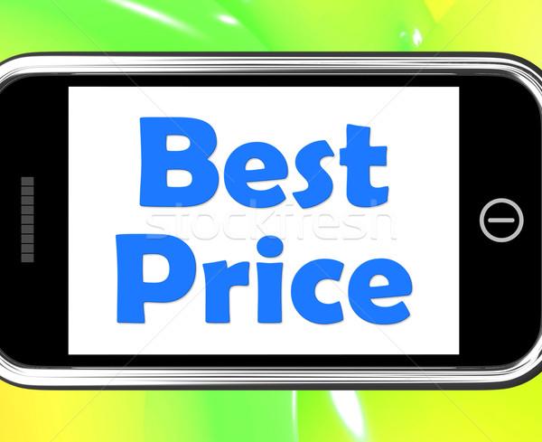 Legjobb ár telefon promóció ajánlat árengedmény mutat Stock fotó © stuartmiles