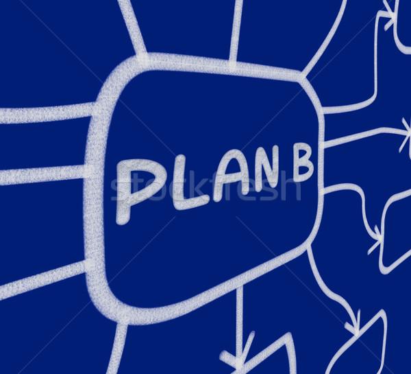Plan b diyagram alternatif plan Stok fotoğraf © stuartmiles