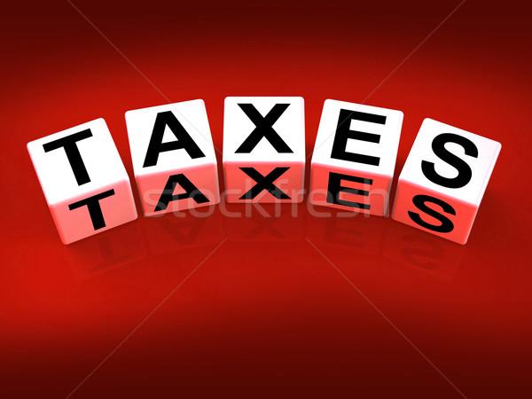 Adózás kockák adóügy iratok mappa Stock fotó © stuartmiles