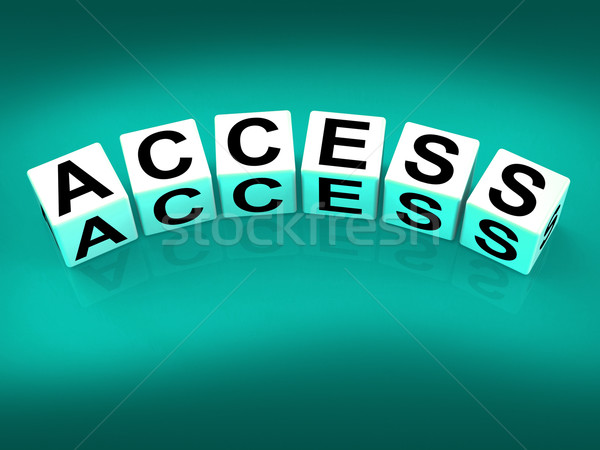 Access Blocks Show Admittance Accessibility and Entry Stock photo © stuartmiles