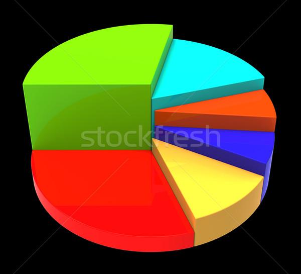 Cirkeldiagram zakelijke grafiek gegevens document financieren informatie Stockfoto © stuartmiles