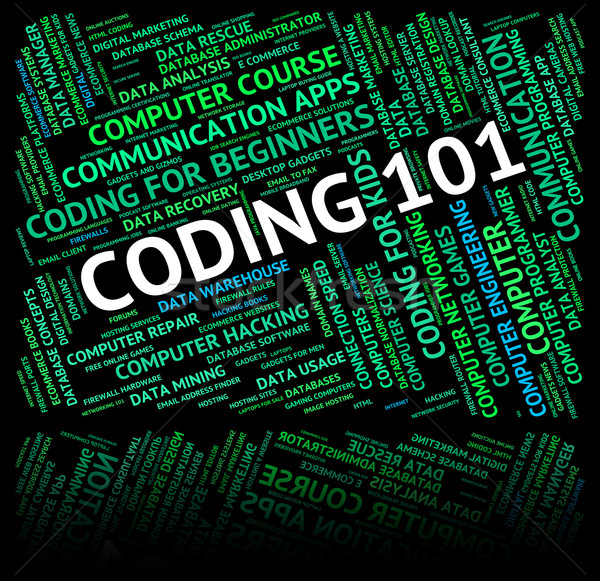 Word Coding Represents Code Guides And Guideline Stock photo © stuartmiles