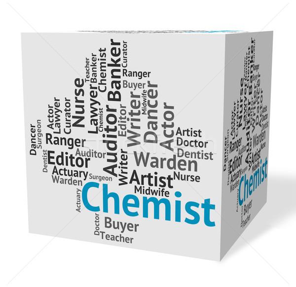 Chemist Job Indicates Lab Technician And Career Stock photo © stuartmiles