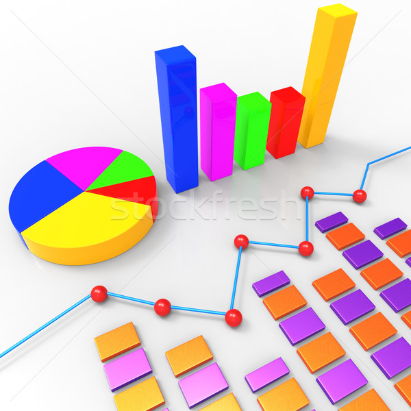 Graph Report Represents Trend Graphics And Finance Stock photo © stuartmiles