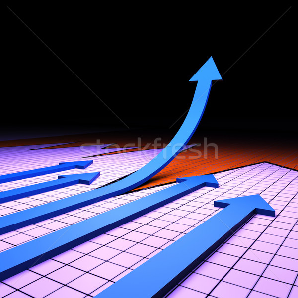 Success Graph Represents Financial Report And Analysis Stock photo © stuartmiles