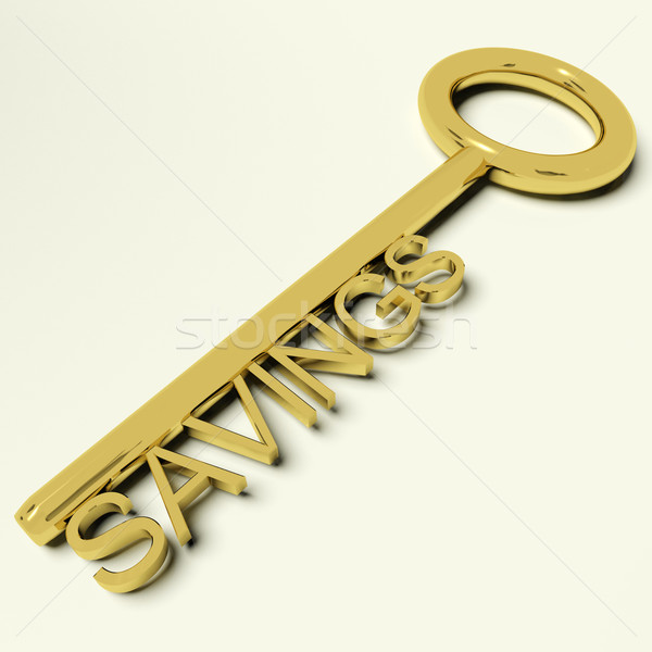 Savings Key Representing Money And Investment Stock photo © stuartmiles